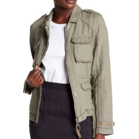 Michael Stars Jackets & Blazers - michael stars | linen military utility jacket sz L